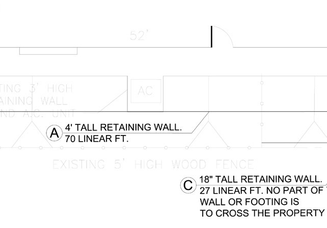 retaining wall plan